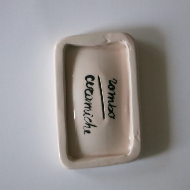 handcrafted ceramic soapdish female cut