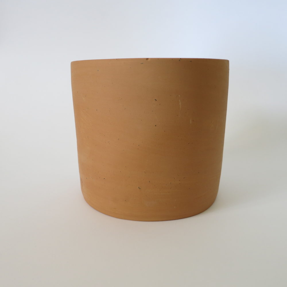 terracotta cylindrical pot small